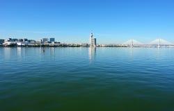 Mening van het park van de Naties van Lissabon en Royalty-vrije Stock Foto