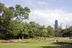 Mening van het Park van Lincoln Stock Foto