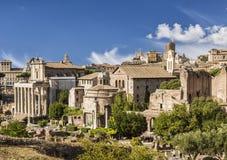 Mening van het Roman Forum rome royalty-vrije stock fotografie