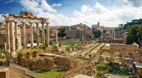 Mening van het Roman Forum in Rome Stock Fotografie