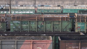 Mening van het stationvenster stock footage