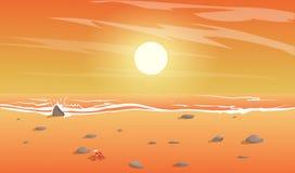 Mening van het strand vector illustratie