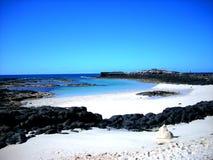 Mening van het strand van Gr Cotillo Royalty-vrije Stock Afbeelding