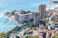 Mening van het Strand van Monte Carlo Stock Foto