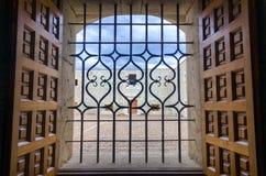 Mening van het Terras in het Oude Klooster in Oaxaca royalty-vrije stock fotografie