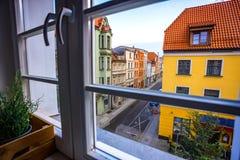 Mening van het venster Stock Fotografie