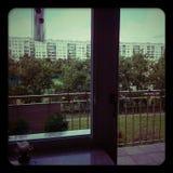 Mening van het venster Stock Foto