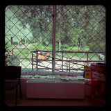 Mening van het venster Stock Foto's