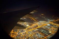Mening van het venster van een vliegtuig Stock Afbeeldingen