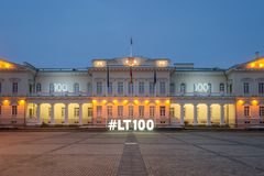 Mening van het Vilnius-Paleis royalty-vrije stock fotografie