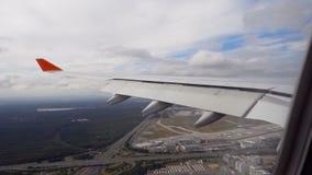 Mening van het vliegtuig stock video