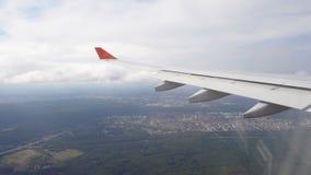 Mening van het vliegtuig stock footage