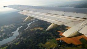 Mening van het vliegtuig stock videobeelden