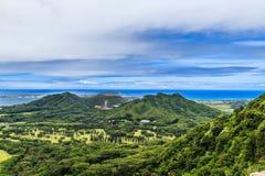 Mening van het vooruitzicht van Nuuanu Pali Royalty-vrije Stock Foto
