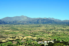 Mening van het vruchtbare Plateau Lassithi in Kreta Stock Foto