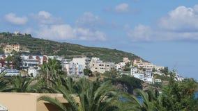 Mening van het Zonnige Eiland Kreta stock footage
