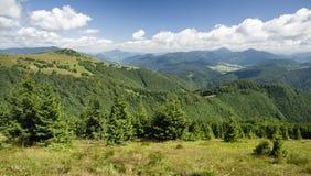Mening van heuvel Nova Hola, Slowakije Stock Afbeeldingen