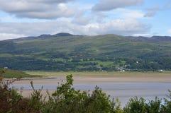 Mening van heuvels en bergen in Wales, het UK royalty-vrije stock afbeelding