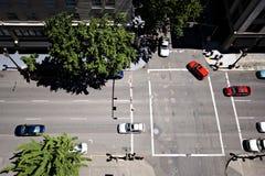 Mening van hierboven bij straat Stock Afbeeldingen