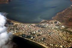 Mening van hierboven over de stad van Istanboel Royalty-vrije Stock Foto