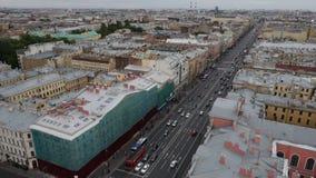 Mening van historisch centrum van St. Petersburg, Rusland stock videobeelden