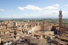 Mening van historische stad van Siena, Toscanië, Italië Royalty-vrije Stock Afbeeldingen