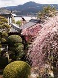 Mening van historische Uchiko-stad in Ehime-prefectuur, Japan stock afbeeldingen