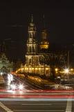 Mening van Hofkirche Stock Afbeeldingen