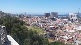 Mening van Hoger Rotsnatuurreservaat, Gibraltar, Brits Gebied overzee stock foto