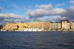 Mening van hotel in Stockholm. Royalty-vrije Stock Afbeelding
