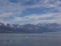 Mening van Hubbard-Gletsjer stock afbeeldingen