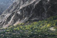 Mening van Hunza-Vallei, Pakistan stock foto's