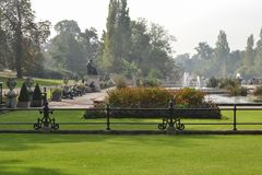 Mening van Hyde Park op 20 September, 2014 in Londen, het UK royalty-vrije stock foto's