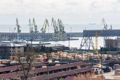 Mening van industriële haven Royalty-vrije Stock Afbeelding