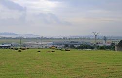 Mening van internationale luchthaven van Santander in Spanje Stock Fotografie