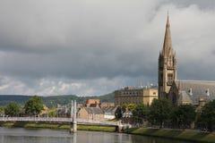 Mening van Inverness, in Schotland Stock Afbeeldingen
