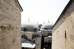 Mening van Istanboel van het venster van St Sophia Cathedral stock foto
