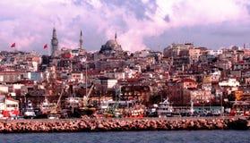 Mening van Istanboel van het Overzees van Marmara Royalty-vrije Stock Foto's