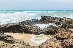 Mening van Itacarezinho-strand in Bahia Brazil royalty-vrije stock fotografie