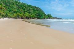 Mening van Itacarezinho-strand in Bahia Brazil royalty-vrije stock afbeeldingen