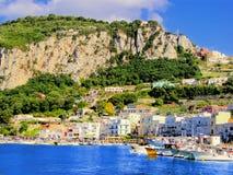 De haven van Capri Stock Foto's