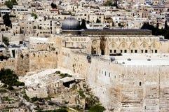 Mening van Jeruzalem van Onderstel van Olijven Stock Foto