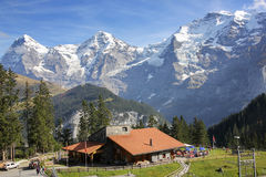 Mening van Jungfrau van Zwitserse Alp stock afbeelding