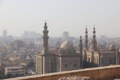Mening van Kaïro, Egypte van de Moskee van de V.N. van Sultan al-Nasir Muhammad ibn Qala ` Stock Afbeeldingen