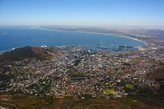 Mening van Kaapstad van de Berg van de Lijst, Zuiden Afric Royalty-vrije Stock Fotografie