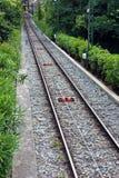 Mening van kabelsporenperspectief Stock Afbeeldingen