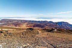 Mening van kabelwagenmt Teide, _Tenerife, Spanje Stock Foto