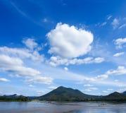 Mening van Kaeng Khut Khu, Mae Khong-rivier, Thailand Royalty-vrije Stock Afbeelding
