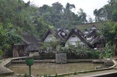 Mening van Kampung Naga stock afbeeldingen