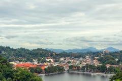 Mening van Kandy in Sri Lanka Royalty-vrije Stock Foto's